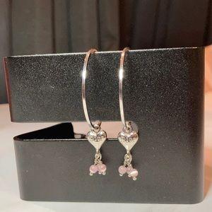 ❤️ Dior Vintage Heart Hoop Earrings